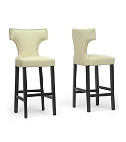 Baxton Studios Hafley Set of 2 Modern Bar Stools