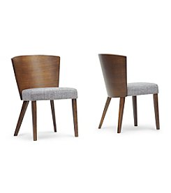 Baxton Studios Sparrow Brown Wood Set of 2 Modern Dining Chairs