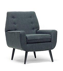 Baxton Studios Levison Grey Linen Modern Accent Chair