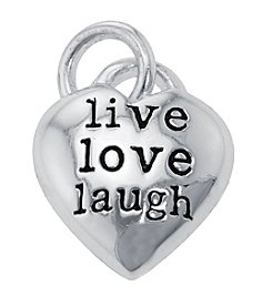 Sterling Silver Inspirational Heart Charm