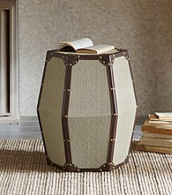 Madison Park Cirque Octagon Upholstered Drum Table