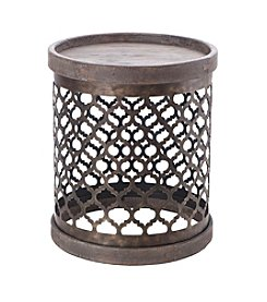 Intelligent Design Cirque Quatrefoil Metal Drum Table