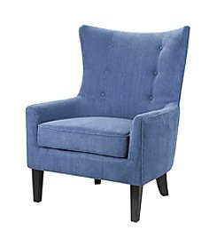 Madison Park Carissa Blue Shelter Wing Chair