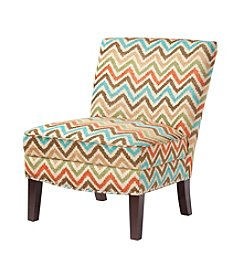Madison Park Hayden Orange Curved Back Slipper Chair