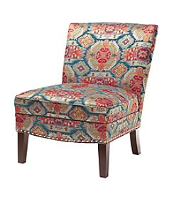 Madison Park Hayden Multicolor Curved Back Slipper Chair