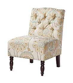 Madison Park Lola Multicolor Tufted Armless Chair