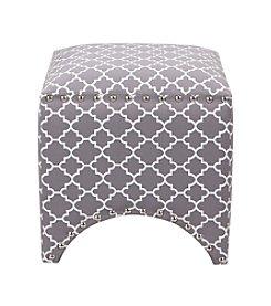 Madison Park Rileigh Quatrefoil Fretwork Pattern Ottoman