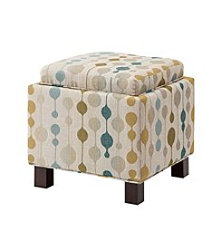 Madison Park Shelley Sand Square Storage Ottoman with Pillows