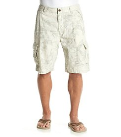 Paradise Collection® Men's Printed Linen Cotton Cargo Short