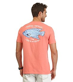 Nautica® Men's Short Sleeve Blue Fish Crew