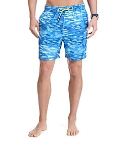 Nautica® Men's Fish Print Trunk