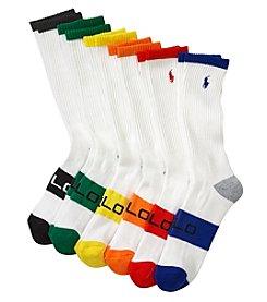 Polo Ralph Lauren® Men's Color Blocked 6 Pack Crew Sock