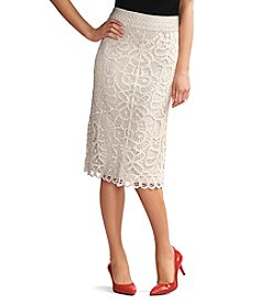 Adiva Crochet Lace Midi Skirt