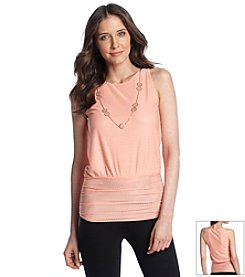 AGB® Sleeveless Ruched Top