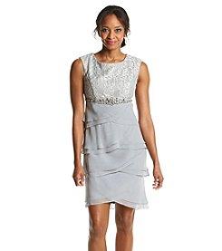 Jessica Howard® Petites' Glitter Lace Tiered Dress