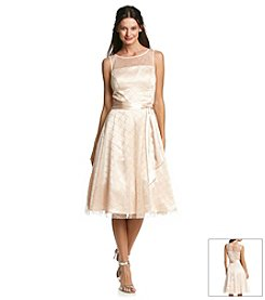 Jessica Howard® Mesh And Glitter Fit And Flare Dress