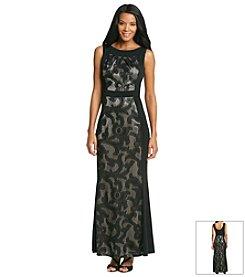 Sangria™ Lace Overlay Maxi Dress