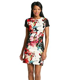 Studio One Floral Scuba Sheath Dress