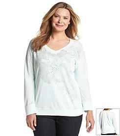 DKNY JEANS® Plus Size Floral Knit Top