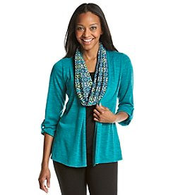 Notations® Petites' Solid Layered Look Knit Top