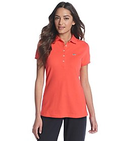 Le Tigre Solid Pique Short Sleeve Polo