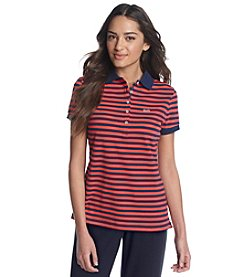 Le Tigre Narrow Stripe Pique Short Sleeve Polo