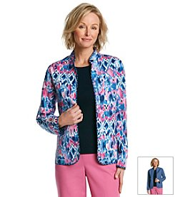 Alfred Dunner® Bon Voyage Abstract Print Jacket