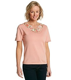 Alfred Dunner® Romancing The Stone Solid Embellished Sweater