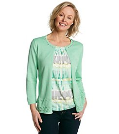 Alfred Dunner® High Tea Biadere Layered Look Sweater