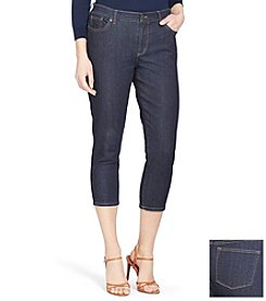 Lauren Jeans Co.® Super-Stretch Classic Straight Cropped Rinse-Wash Jeans