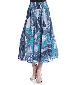 Chelsea & Theodore® Full Printed Midi Skirt