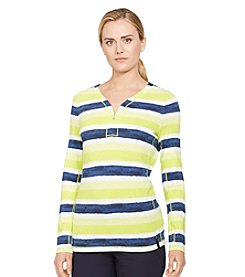 Lauren Active® Striped Half-Zip Shirt