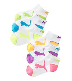 PUMA® Girls' 6-Pack Low Cut Socks
