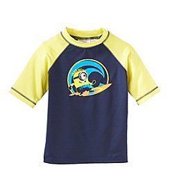 Despicable Me® Boys' 4-7 Despicable Me Surfin' Minion Rashguard Top