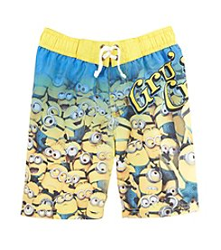 Despicable Me® Boys' 4-7 Despicable Gru Crew Swim Trunks