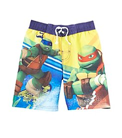 Nickelodeon® Boys' 4-7 Teenage Mutant Ninja Turtles Surf's Up Bro Swim Trunks
