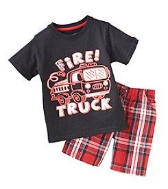 Nannette® Boys' 2T-4T 2-Piece Firetruck Outfit Set