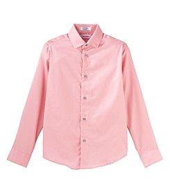 Calvin Klein Boys' 8-20 Long Sleeve Sateen Shirt