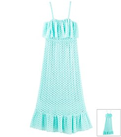 Beautees Girls' 7-16 Crochet Maxi With Ruffle Bodice