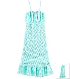 Beautees Girls' 7-16 Crochet Maxi With Ruffle Bodice