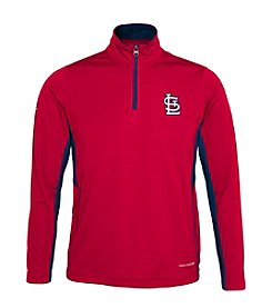 Majestic Boys' 8-20 Long Sleeve St. Louis Cardinals Quarter Zip