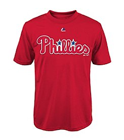 Majestic Boys' 8-20 Short Sleeve Philadelphia Phillies Tee