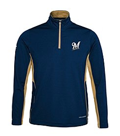 Majestic Boys' 4-20 Long Sleeve Milwaukee Brewers Quarter Zip