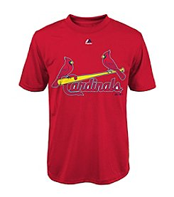 Majestic Boys' 4-20 Short Sleeve St. Louis Cardinals Tee