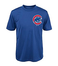 Majestic Boys' 4-20 Short Sleeve Chicago Cubs Tee