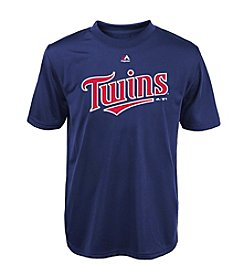 Majestic Boys' 4-20 Short Sleeve Minnesota Twins Tee