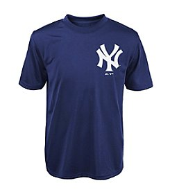 Majestic Boys' 4-20 Short Sleeve New York Yankees Tee