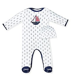 Wendy Bellissimo® Baby Boys' Anchor Footie With Cap