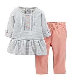 Carter's® Baby Girls' 2-Piece Peplum Tunic & Pants Set
