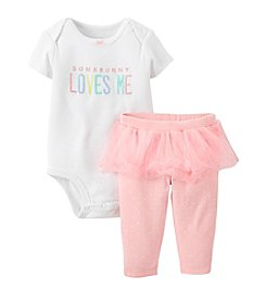 Carter's® Baby Girls' 2-Piece Easter Bodysuit & Tutu Pants Set